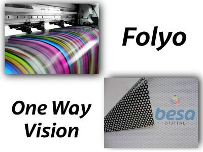 Folyo - One Way Vision Baskı